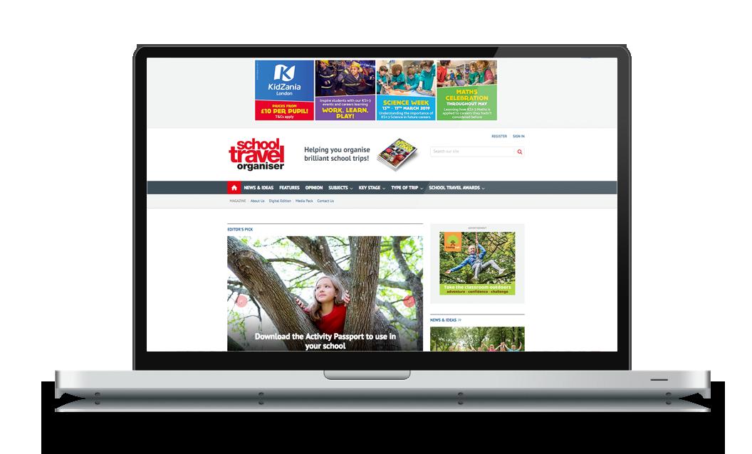 schooltravelorganiser.com homepage