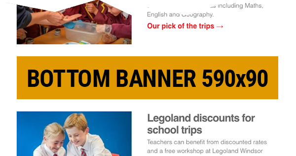 Group Leisure e-newsletter bottom ad placement