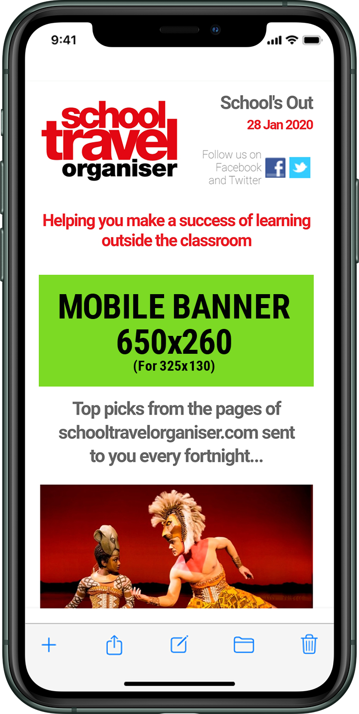 Group Leisure e-newsletter on iPhone 6